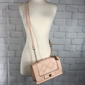 NWT Mossimo Blush Pink Faux Leather Crossbody